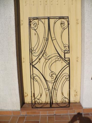 grille de porte d 39 entr e ancienne d coration maison. Black Bedroom Furniture Sets. Home Design Ideas