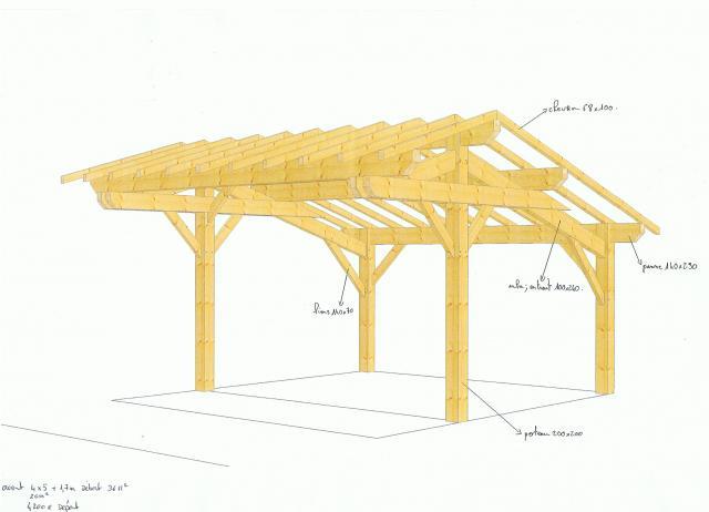 garage en kit charpente traditionnelle bricolage jardinage maison sainte gemme 33580. Black Bedroom Furniture Sets. Home Design Ideas