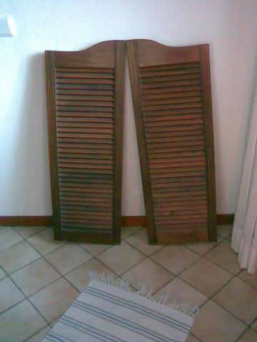 Portes battantes style western d coration maison lisses Porte western bois