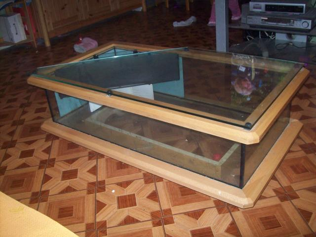 Table basse aquarium ameublement maison paris 75000 for Table salon aquarium