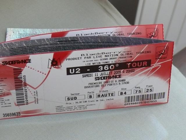 places de concerts u2 stade de france billetterie emploi services wingles 62410 annonce. Black Bedroom Furniture Sets. Home Design Ideas