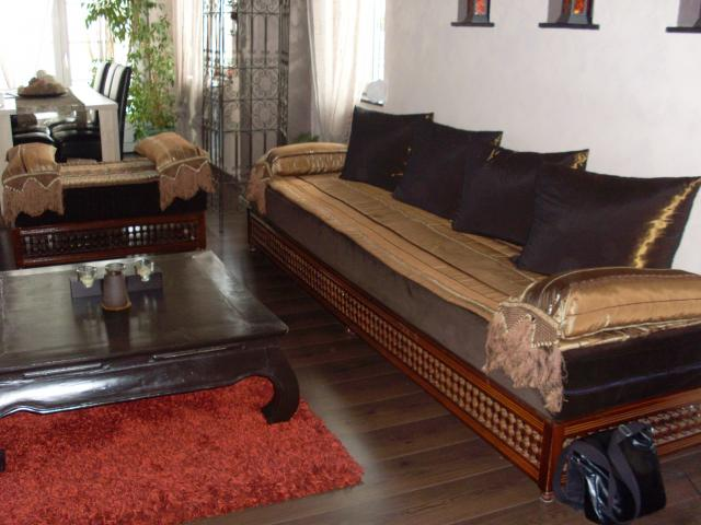 salon marocain rouge et orange boutique salon marocain salon - Salon Marocain Beige Et Marron