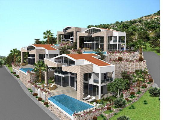 Villa design de 140 m avec piscine en turquie ventes immobili res immobilier turquie 98 for Villa design avec piscine