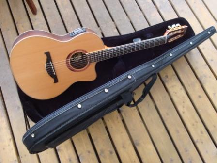 guitare electro acoustique contry nylon lag 314nce. Black Bedroom Furniture Sets. Home Design Ideas