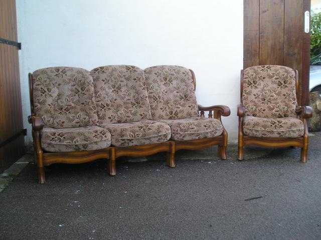 canape rustique et ses 2 fauteuils ameublement maison for canap rustique - Canape Rustique