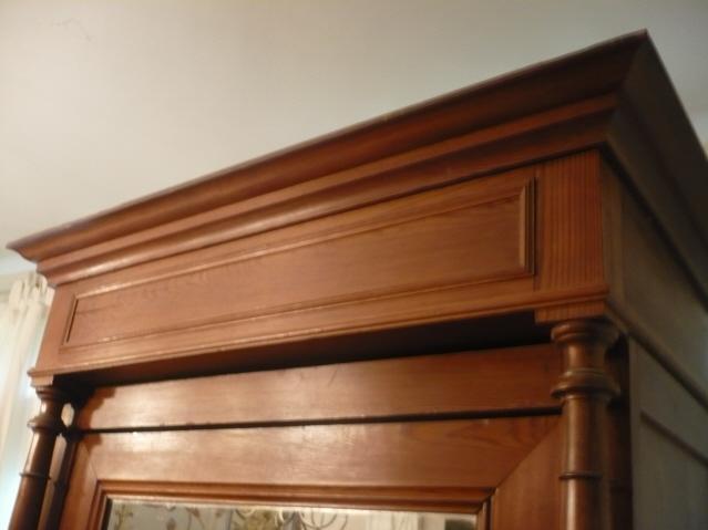 Armoire A Glace Chambre : Chambre armoire glace lit et chevet en pitchpin