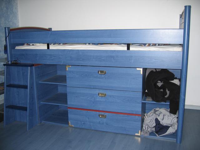 2 lits gami combin junior r gate bleu et marron ameublement maison fresnes 94260 annonce. Black Bedroom Furniture Sets. Home Design Ideas