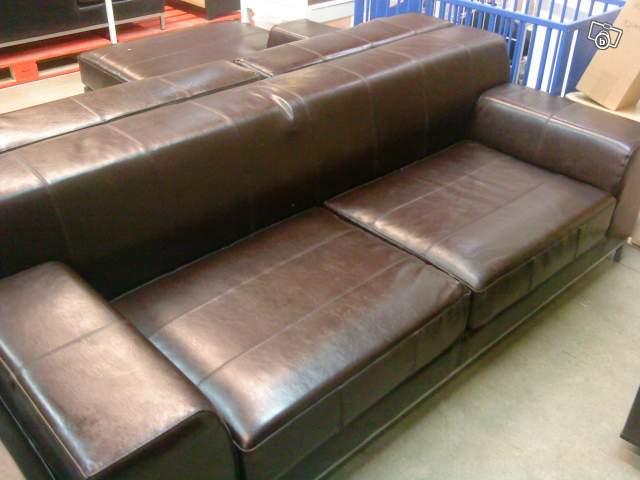 canap cuir couleur chocolat marron 3p ameublement. Black Bedroom Furniture Sets. Home Design Ideas
