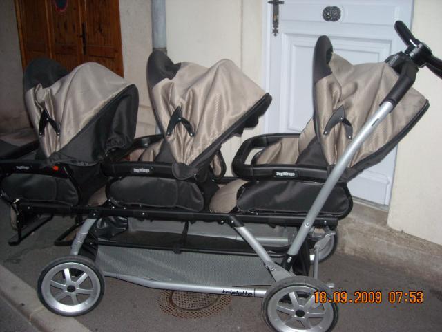 poussette triplette peg perego equipement b b maison. Black Bedroom Furniture Sets. Home Design Ideas
