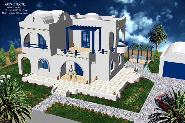 Belle villa tunisienne images for Belles villas modernes