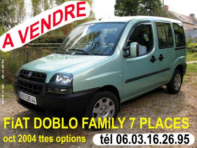 fiat doblo family jtd 2 litres 7 places voitures. Black Bedroom Furniture Sets. Home Design Ideas