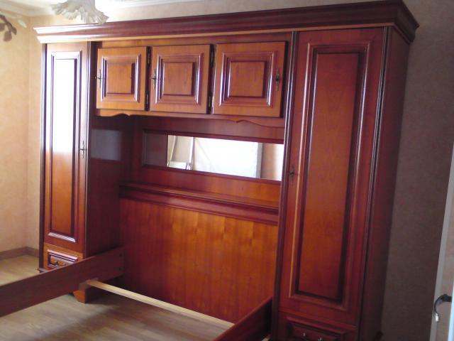 chambre pont merisier lit 2 presonne ameublement maison aix en provence 13540 annonce. Black Bedroom Furniture Sets. Home Design Ideas