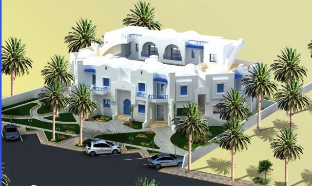 Jolie maison djerbienne de type riad avec cour terrasse piscine jardin terrain