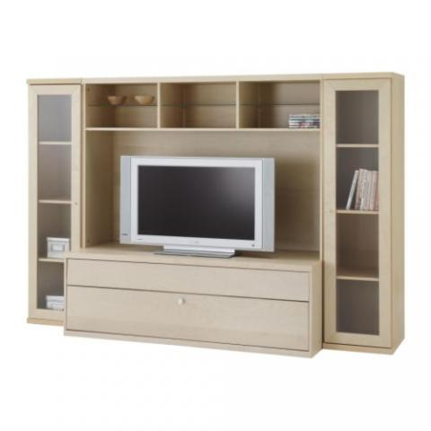 combinaison meuble tv ikea bonde plaqu e bouleau. Black Bedroom Furniture Sets. Home Design Ideas