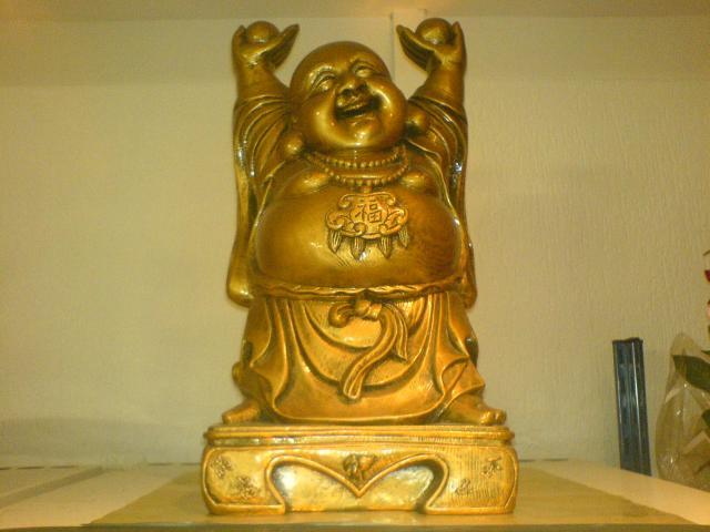 bouddha rieur doree d co feng shui fortune d coration maison taverny 95150 annonce. Black Bedroom Furniture Sets. Home Design Ideas